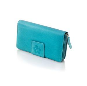 Dámska kožená peňaženka Hibiscus, aqua
