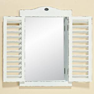 Zrkadlové Okno Vintage, biele