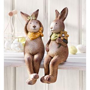 Sediaci zajačikovia Melly a Nils, 2 ks