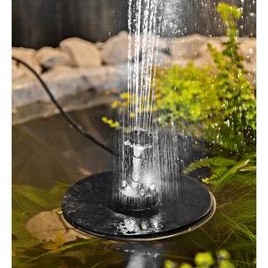 Solárna fontána s osvetlením