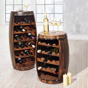 Stojan na flaše Vinný sud, 69 cm