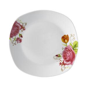 Porcelánové taniere Ruža, 4 ks