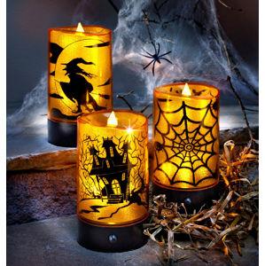 LED Sviečky Halloween so zvukmi, 3 kusy