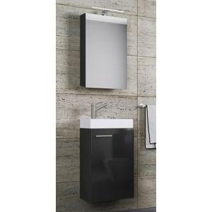 Kúpeľňový set So Zrkadlová skrinkou zliate, čierna