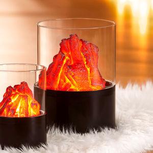 Lampa Ohnivý kameň, 21 cm